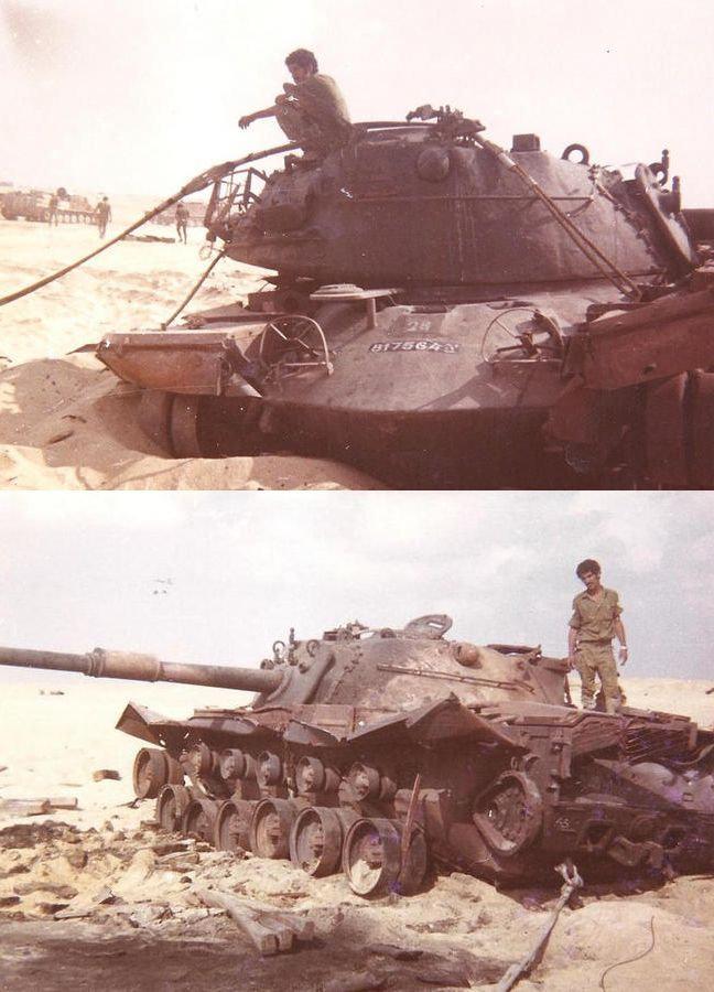 """טנק הצוערים - דצמבר 1973 - באיזור """"לכסיקון"""" 250.1"""