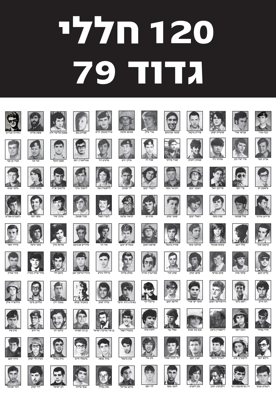 תמונת 120 חללי גדוד 79 במלחמת יום הכיפורים